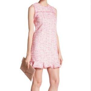 CeCe Pink Tweed Sleeveless Shift Mini-Dress